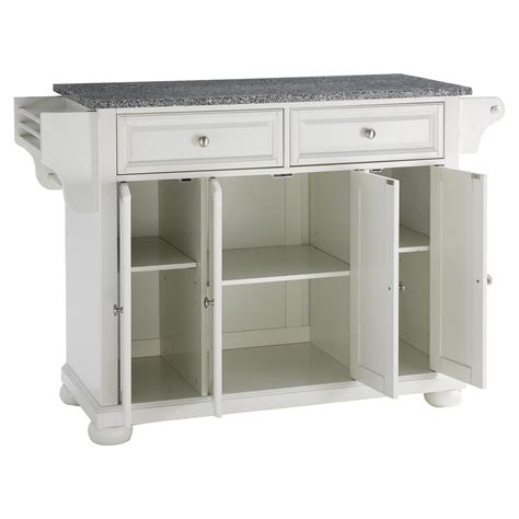 alexandria solid granite top kitchen island white dcg