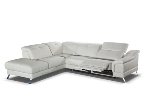 canapé d angle electrique canapé d 39 angle relax en cuir sardaigne ii ivoire ou noir