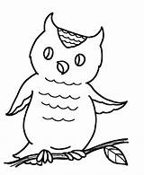 Coloring Easy Pages Owl sketch template
