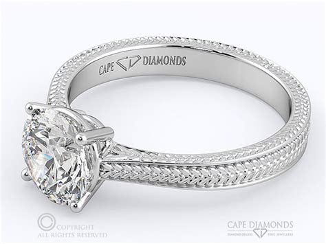 88 most beautifully detailed engraved diamond engagement