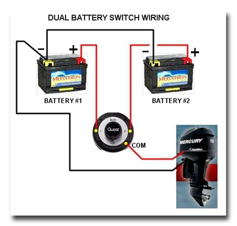 dual battery selector switch boat wiring easy  install ezacdc marine electrical