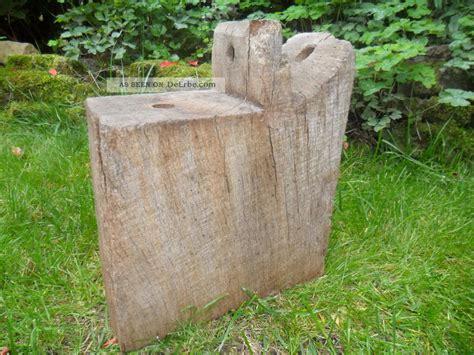 Garten Deko Eichenbalken alter pfostenkopf eichenbalken stele skulptur garten