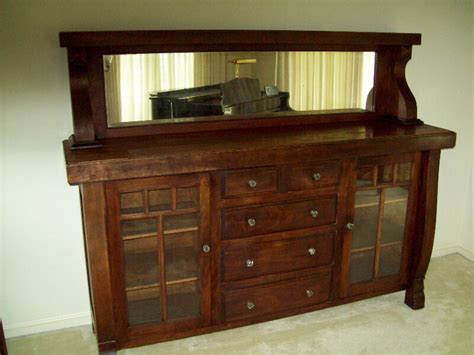 Antique Hutches And Sideboards by Antique Oak Sideboard Buffet W Mirror Top 1920 Primitive