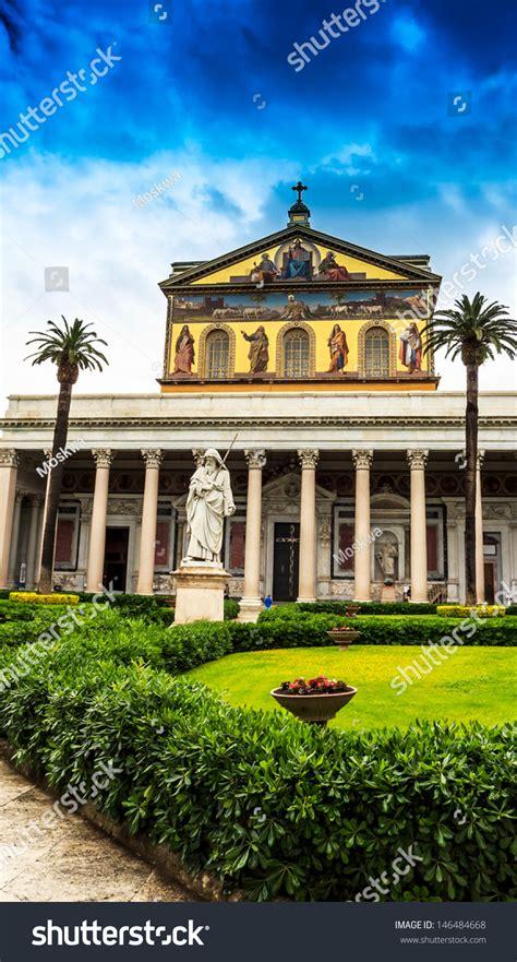 libreria san paolo roma rome basilica papale san paolo fuori di mura stock photo