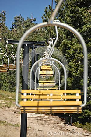 empty ski lift chairs in a row royalty free stock photos