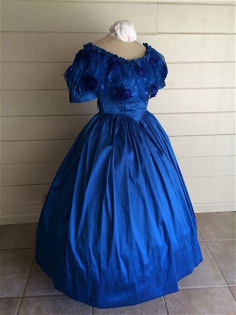 reproduction blue victorian ballgown