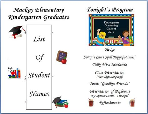 kindergarten graduation program great expectations 601 | 5705a3ec5c103cd5e56a8dd6142ec491 preschool graduation kindergarten graduation program template
