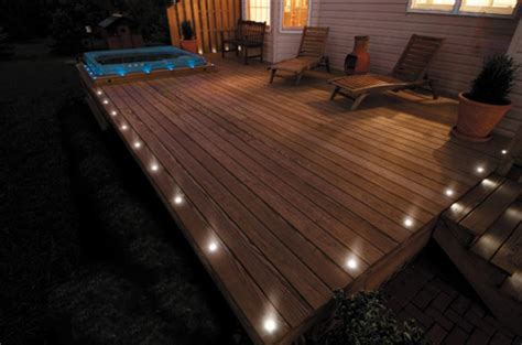 Patio Floor Lighting Ideas by Deck Lighting This Deck Lighting Lights Up The Ou