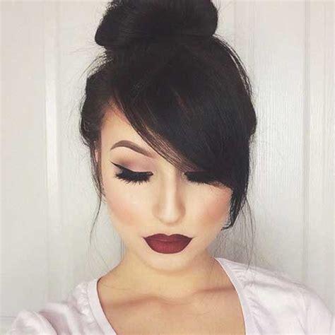 20  Bun Hairstyles with Bangs   Hairstyles & Haircuts 2016