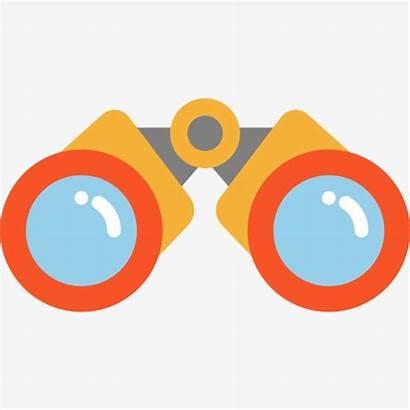 Telescope Clipart Binoculars Cartoon Binocular Glasses Transparent