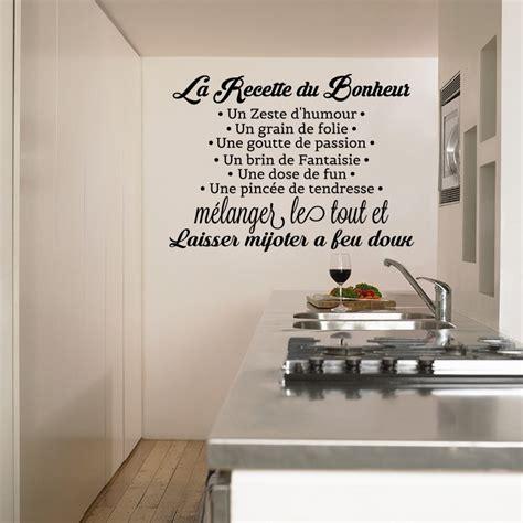 la cuisine du bonheur thermomix sticker la recette du bonheur stickers citation texte