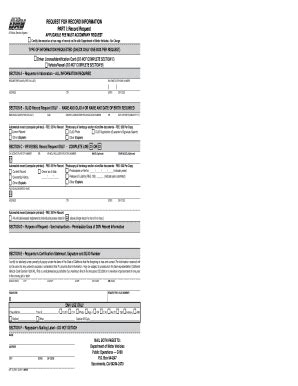 inf 70r dmv form request record fill online printable fillable blank