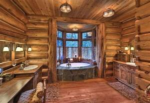 log home bathrooms log bathroom bathroom ideas With ordinary maison en rondin prix 3 how to decorate a wooden house one decor
