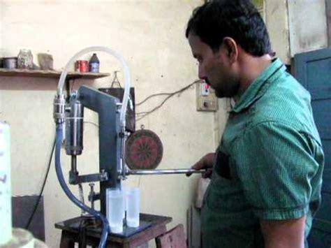 liquid filling machine hand operated youtube