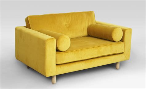 And Loveseat by Shop Avenue Yellow Velvet Loveseat On Crowdyhouse