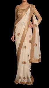Cocktail Beige Embroidered Sari