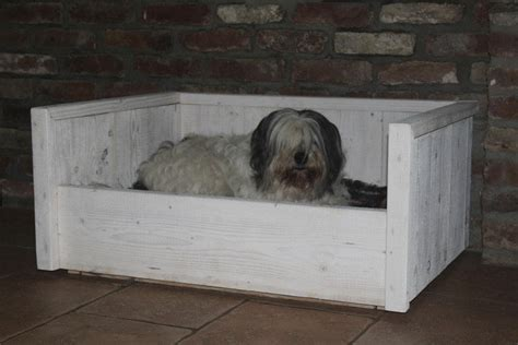 kattenmand steigerhout steigerhouten hondenmand luxe tuinenspeelmeubelen