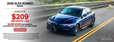 Alfa Romeo Dealer Los Angeles by Alfa Romeo Lease Deals Specials On New Vehicles Near Me In