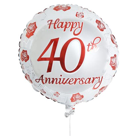 40th wedding anniversary happy 40th anniversary balloon available from arenaflowers com