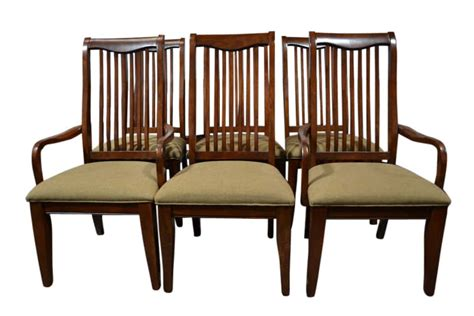 set of 6 drexel heritage dining chairs