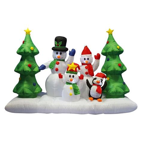 giant inflatable snowman penguin and christmas tree inflatable
