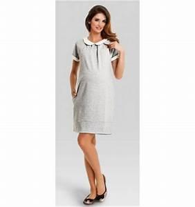robe grise grossesse et allaitement robe grise pour femme With robe pour allaitement