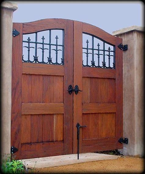 handmade custom exterior wood gate  adney sons fine