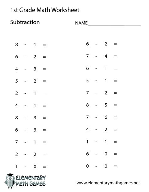 1st grade math this can be used as a worksheet or test to