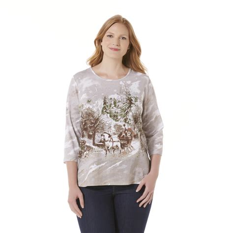 holiday editions women s plus christmas top