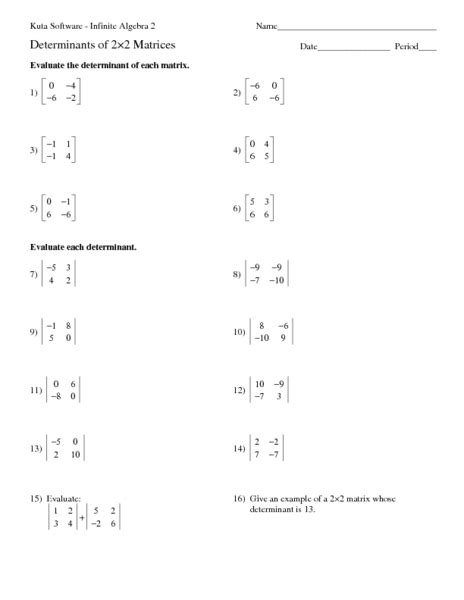 matrices worksheets worksheets ratchasima printable