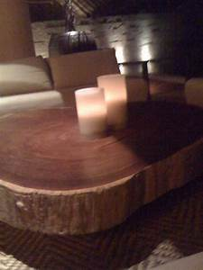 natural table designs With sliced log coffee table