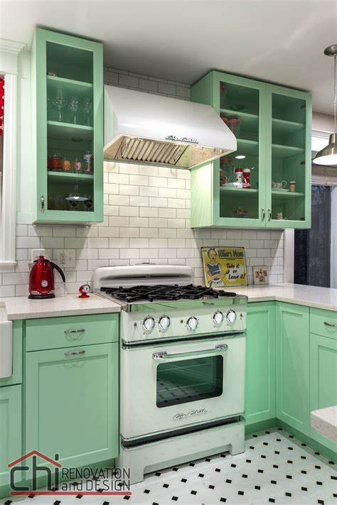 cuisines vintage 25 pastel kitchens that channel the 1950s