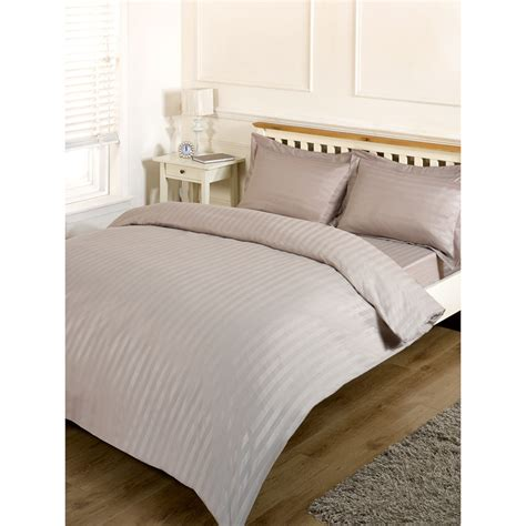 Silentnight Satin Stripe Complete Bed Set King  Bedding B&m