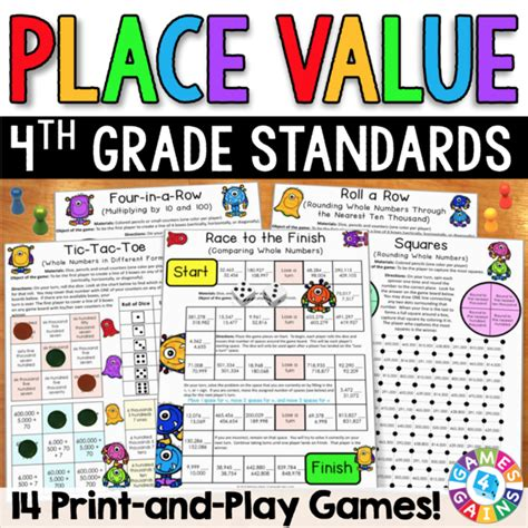 place value games for 4th grade games 4 gains