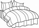Bed Drawing Simple Easy Cartoon Couple Mattress Coloring Draw Beds Sketch Drawings Ways Template Canopy Pain Couch Getdrawings Stuff Vector sketch template