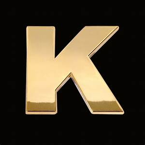 gold letter k 3cm chrome letter and sign With gold letter k