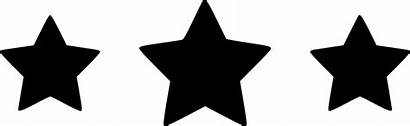 Star Silhouette Vector Stars Three Icon Svg