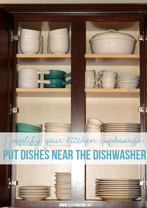 where to put dishes in kitchen cabinets simple ways to organize kitchen cupboards clean 2191