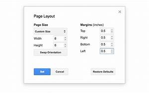 Page layout tool google docs add on for Google docs custom page size