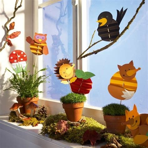 Herbstdeko Fürs Fenster Kaufen by Fensterbilder Basteln 64 Diy Ideen F 252 R Stimmungsvolle