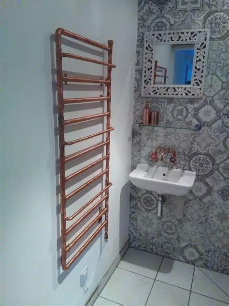 home  copper radiator small shower room small