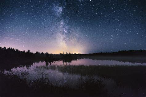 night sky treeline northern arm newfoundland