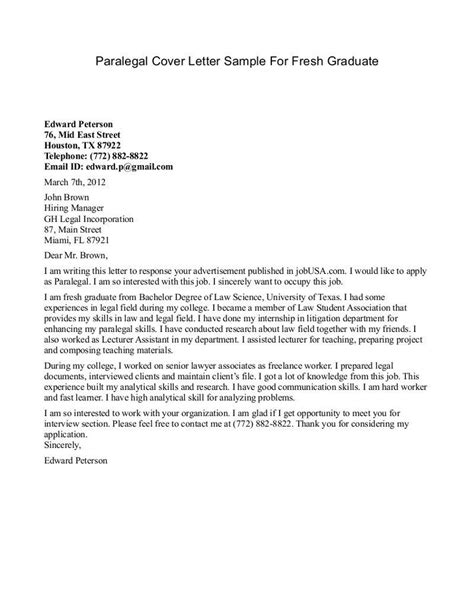 Best Cover Letters For Recent Graduates by Application Letter Exles Of Resumes Fresh Graduate