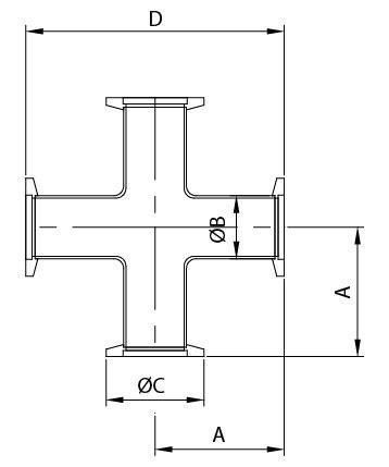 Kf 4 Way Crosses Provider  스테인레스 스틸 파이프 피팅 제조 업체