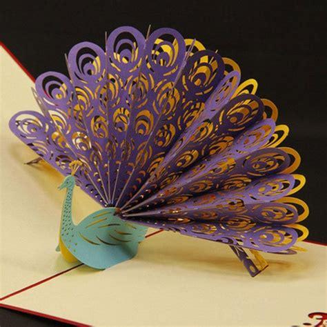 pop  birthday wedding party card peacock design