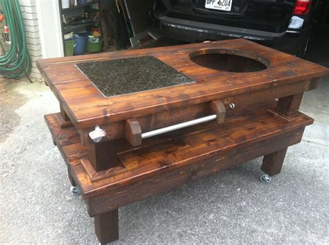 large big green egg table big green egg table plans large custom big green egg