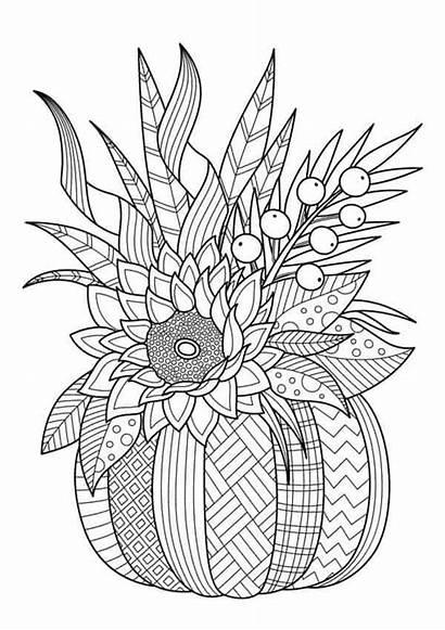 Coloring Pages Halloween Mandala Pumpkin Fall Sheets