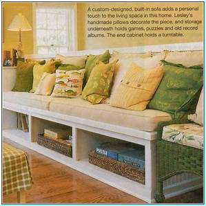 Built in kitchen bench seating with storage for Diy sectional sofa with storage