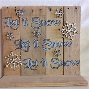 Let it Snow Rustic Whitewashed Snowman from SeeWoodNThings on