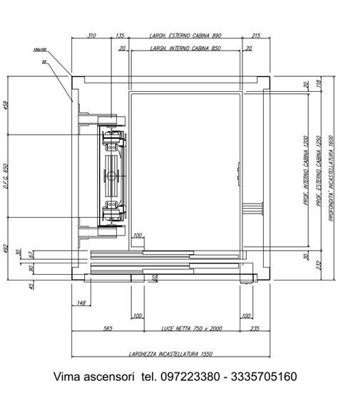 Costo Piattaforma Elevatrice by Dimensioni E Misure Vano Piattaforme Elevatrice Mini Ascensore